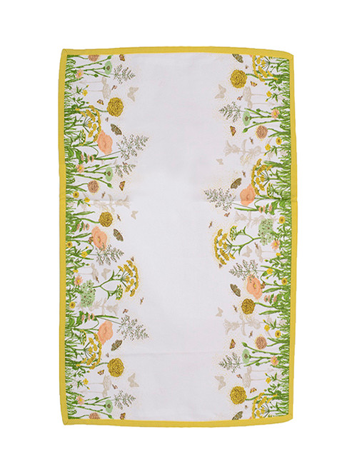 """Tea Garden Cream and Yellow Butterfly and Flower Table Runner 16"""" x 54"""" - IMAGE 1"""