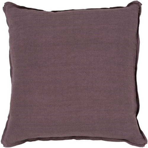 "20"" Purple Decorative Hand Woven Square Throw Pillow - Down Filler - IMAGE 1"