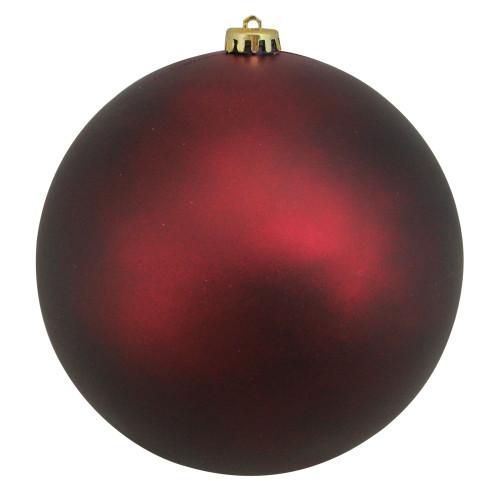 "Matte Burgundy Red Shatterproof Christmas Ball Ornament 8"" (200mm) - IMAGE 1"