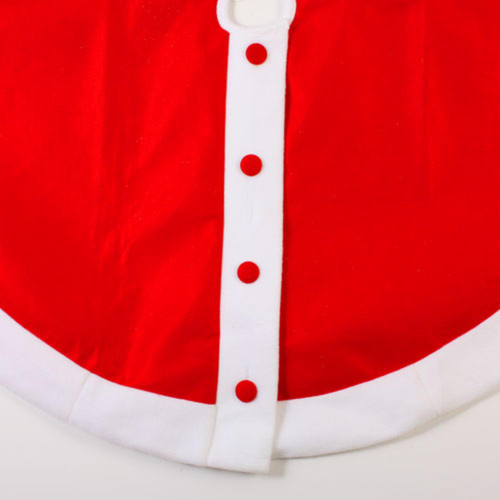 """48"""" Red Felt Santa Claus Jacket with Buttons Christmas Tree Skirt - IMAGE 1"""