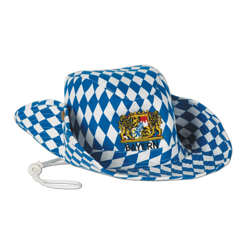 Pack of 6 Blue and White Adult Women's Oktoberfest Outback Party Hats Costume Accessories - One Size - IMAGE 1