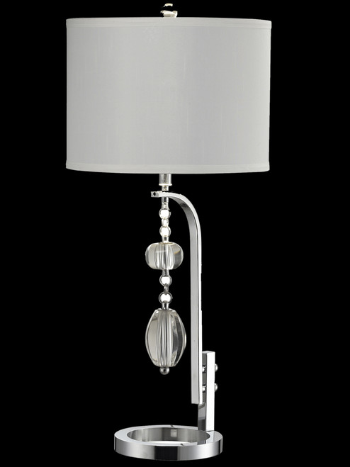"""31.5"""" Ashland Polished Chrome and Crystal Accent Table Lamp - IMAGE 1"""