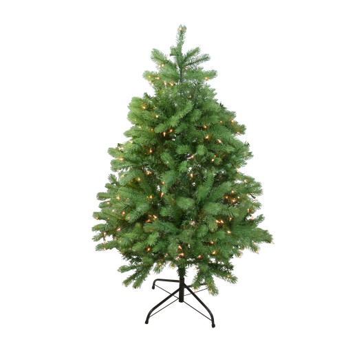 4' Pre-Lit Full Noble Fir Artificial Christmas Tree - Clear Lights - IMAGE 1