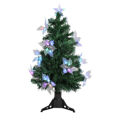 3' Pre-Lit Medium Fiber Optic Floral Artificial Christmas Tree - Multi-Color Lights - IMAGE 1
