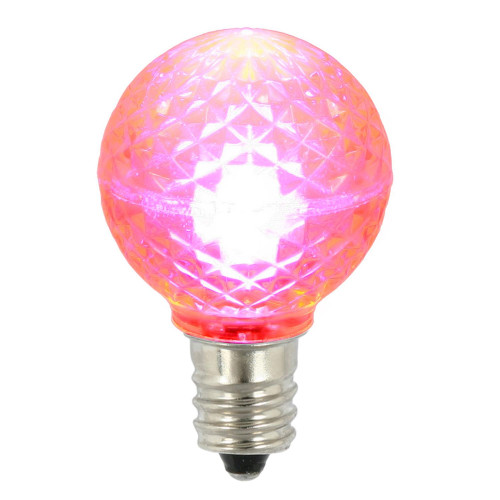 """Pack of 25 LED G30 Pink Replacement Christmas Light Bulbs 2"""" - IMAGE 1"""