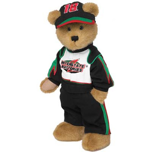 """16"""" Brown and Black Contemporary Bobby Labonte Bear - IMAGE 1"""