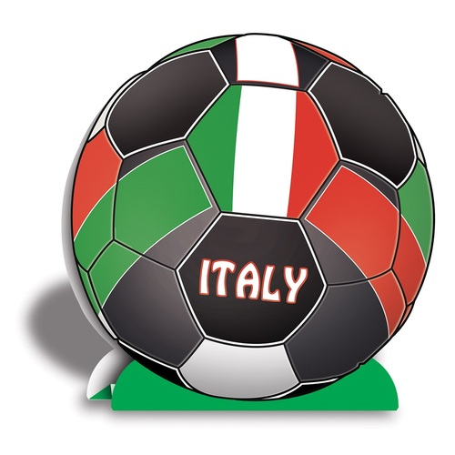 """Club Pack of 12 Red, Green and White 3-D """"Italy"""" Soccer Ball Centerpieces 10"""" - IMAGE 1"""