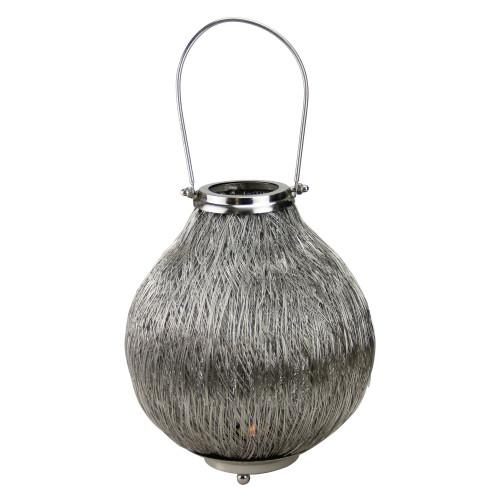 "18.5"" Urban Life Contemporary Silver Tea Light Candle Holder Lantern - IMAGE 1"
