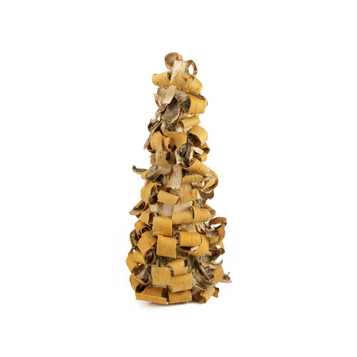 """16"""" Rustic Earth Tone Tree Bark Inspired Table Top Christmas Cone Tree - IMAGE 1"""