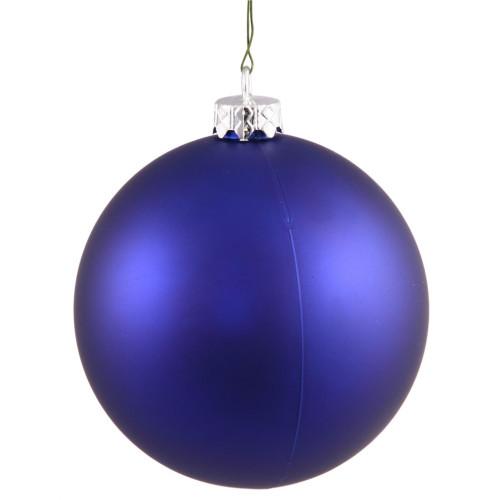 """Matte Cobalt Blue Shatterproof Christmas Ball Ornament 2.75"""" (70mm) - IMAGE 1"""