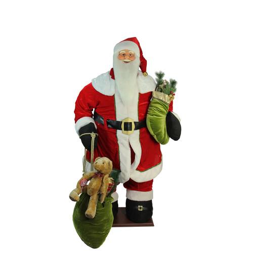 5' Red Animated Musical Inflatable Santa Claus Christmas Figurine - IMAGE 1