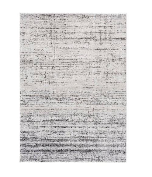 5.25' x 7.25'  Arenaceous Interfuse Rainy Day Gray And Night Sky Black Area Throw Rug - IMAGE 1