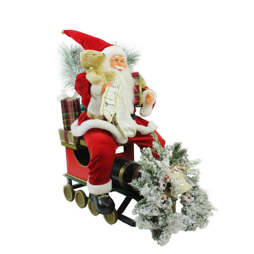 "26"" Red and White Traditional Santa Claus Christmas Figure - IMAGE 1"