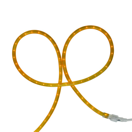 Gold Incandescent Outdoor Christmas Rope Lights - 102 ft - IMAGE 1