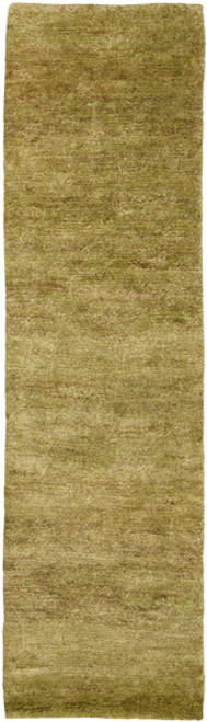 2.5' x 8' Gold Hand-Woven Area Throw Rug Runner - IMAGE 1