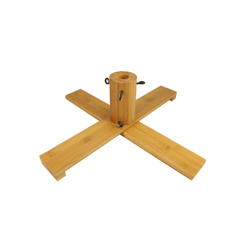 Brown Wooden Christmas Tree Stand For 7.5' - 8.5' Artificial Trees - IMAGE 1