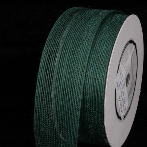 "Hunter Green Woven Edge Craft Ribbon 2"" x 27 Yards - IMAGE 1"
