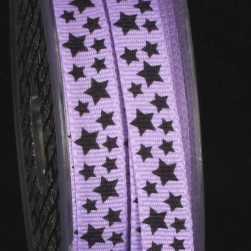 "Purple Getaway Star Print Craft Ribbon 0.25""x 108 Yards - IMAGE 1"