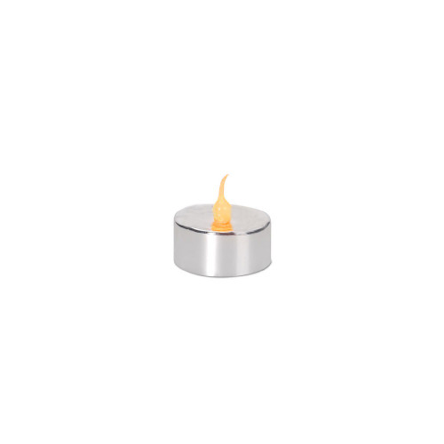 Pack of 4 LED Lighted Battery Operated Flicker Flame Silver Christmas Tea Light Candles - IMAGE 1