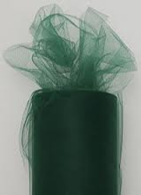 "Designer Hunter Green Tulle Craft Ribbon 3"" x 550 Yards - IMAGE 1"