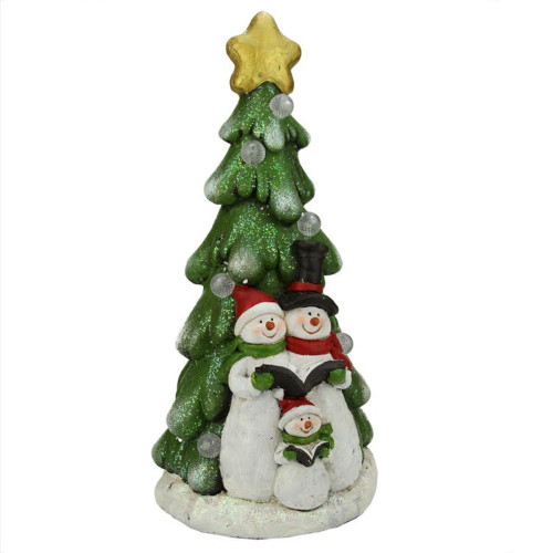 """19.5"""" Pre-Lit Red and Green LED Snowmen Christmas Figurine - IMAGE 1"""