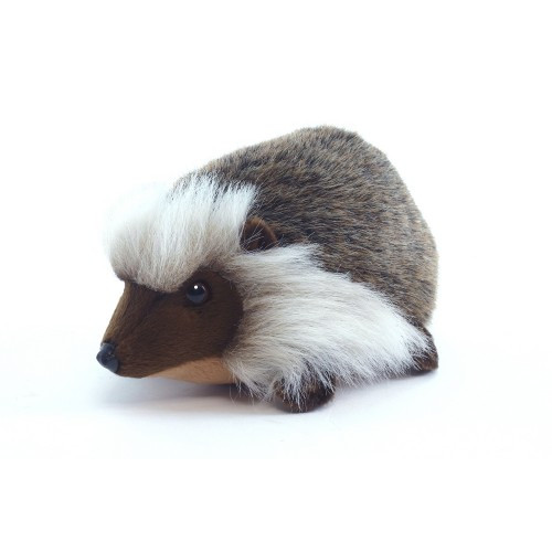 "Set of 4 Gray and White Handcrafted Hedgehog Stuffed Animals 8.25"" - IMAGE 1"
