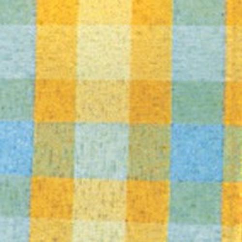 "Orange and Blue Plaid Cut Edge Craft Ribbon 1.5"" x 132 Yards - IMAGE 1"