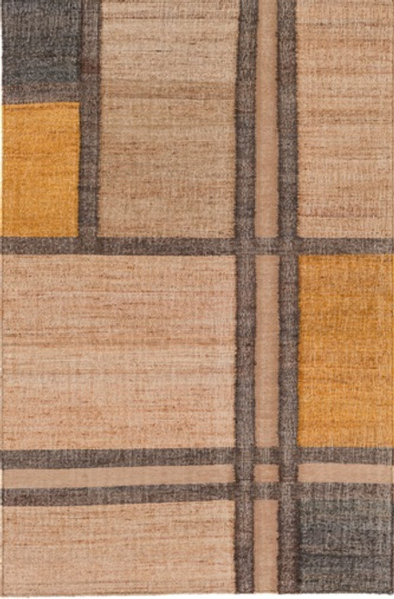 8' x 10' Shades of Dimensions Sand Brown Hand Woven Area Throw Rug - IMAGE 1