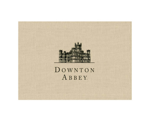 "Set of 4 Beige and Black 'Downton Abbey' British Highclere Castle Placemats 14"" x 20"" - IMAGE 1"