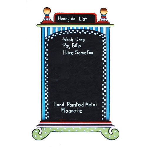 "12"" Hand Painted Whimsical Magnetic Refrigerator Door Children's Chalk Board - IMAGE 1"