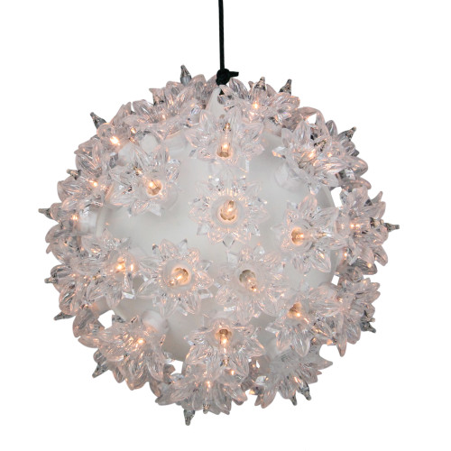 """5.5"""" Clear Twinkling Lighted Hanging Starlight Sphere Outdoor Christmas Decoration - IMAGE 1"""