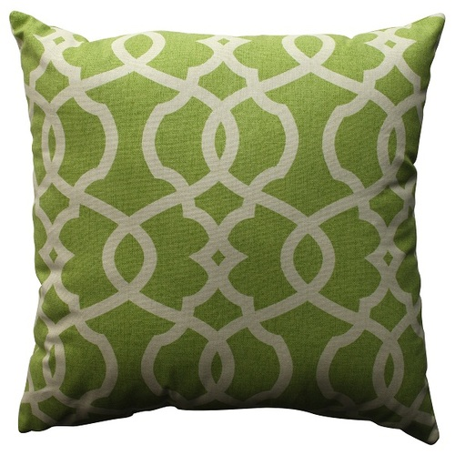 "18"" Green Apple Victorian Decorative Throw Pillow - IMAGE 1"