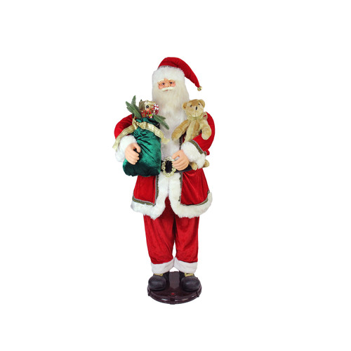 5' Deluxe Traditional Animated and Musical Dancing Santa Claus Christmas Figure - IMAGE 1