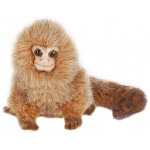 "Set of 3 Brown Handcrafted Soft Plush Pigmy Marmoset Stuffed Animals 7.75"" - IMAGE 1"