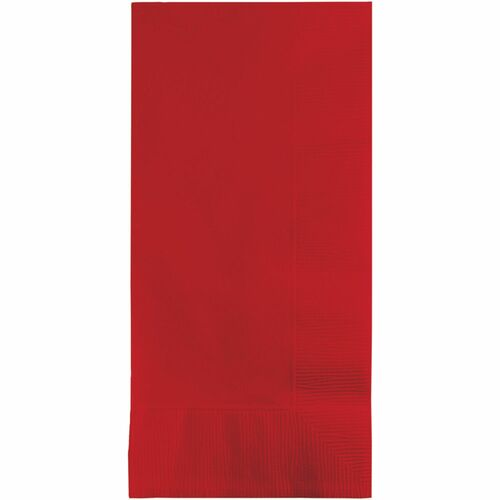 """Club Pack of 600 Classic Red 2-Ply Disposable Party Paper Guest Napkins 8"""" - IMAGE 1"""