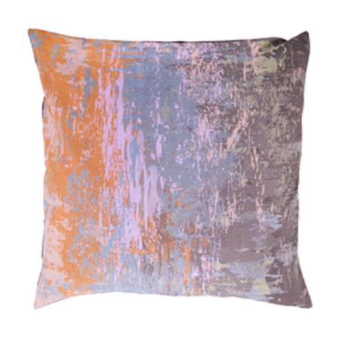 "20"" Orange and Ash Gray Contemporary Throw Pillow - IMAGE 1"