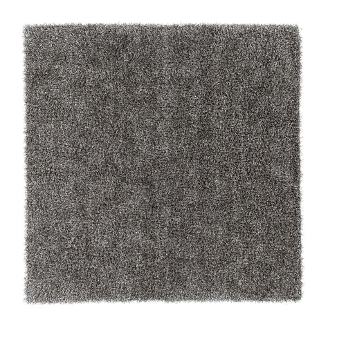 9' x 9' Gray Contemporary Hand Tufted Square Wool Area Throw Rug - IMAGE 1