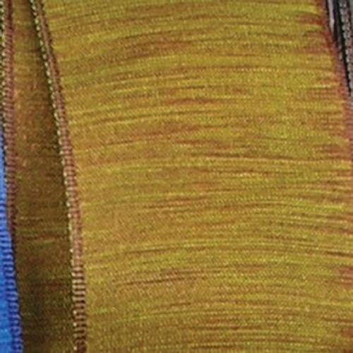 "Amber Solid Taffeta Wired Craft Ribbon 1.5"" x 54 yards - IMAGE 1"