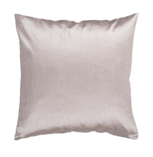 """18"""" Gray Solid Contemporary Square Throw Pillow - Down Filler - IMAGE 1"""