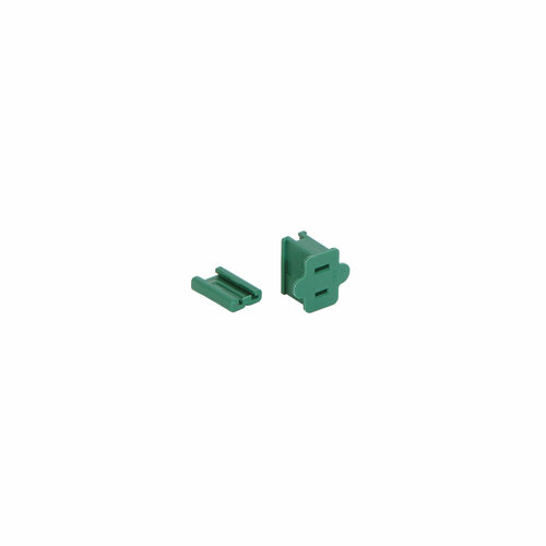 Green Female Quick Zip Plug For SPT1 18 Gauge Wire 8 Amps - IMAGE 1