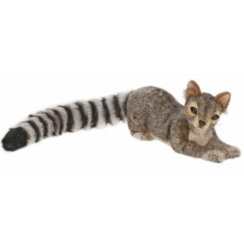 "Set of 2 Gray and Black Handcrafted Ringtail Stuffed Animals 15.25"" - IMAGE 1"