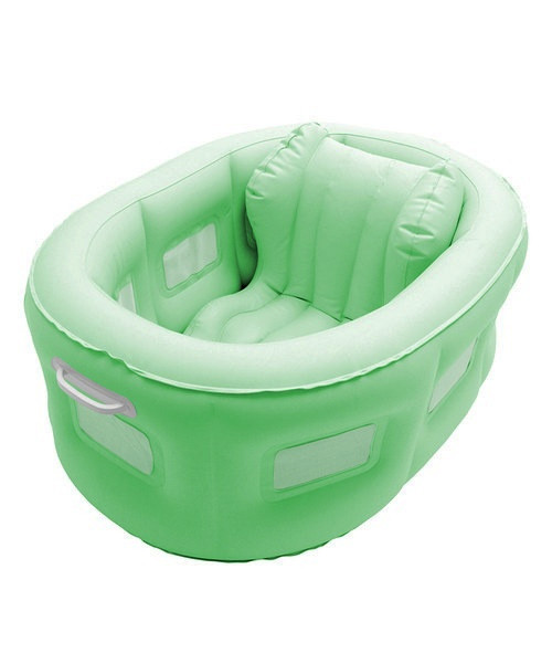 4-in-1 Room to Grow Portable Green Inflatable Baby Bathinet - IMAGE 1