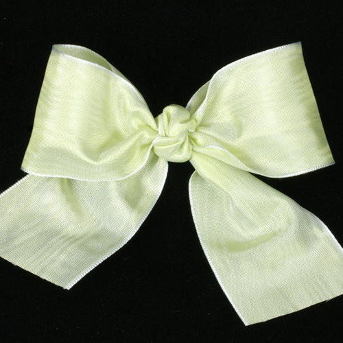 """Lime Green Satin Moire Craft Ribbon 4"""" x 27 Yards - IMAGE 1"""