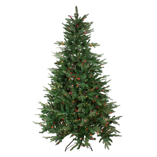 9' Pre-Lit Full Grantwood Pine Artificial Christmas Tree - Multicolor Lights - IMAGE 1