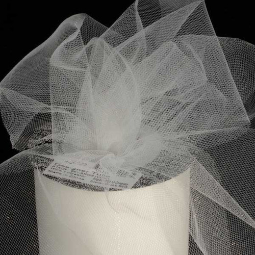 Designer Ivory Tulle Craft Ribbon 3 x 550 Yards - IMAGE 1