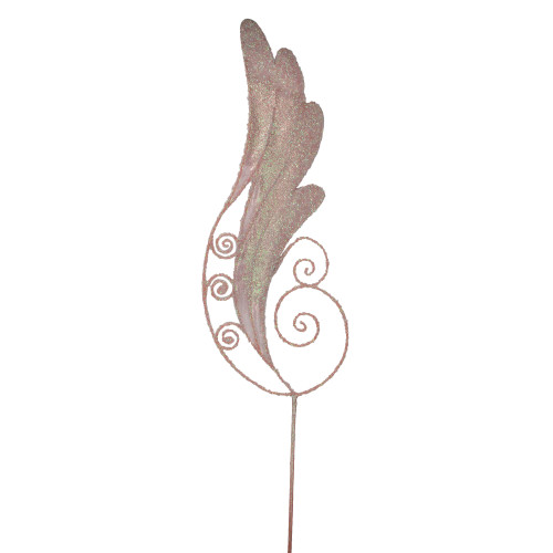 "38.5"" Pink Iridescent Glittered Angel Wing Craft Pick - IMAGE 1"