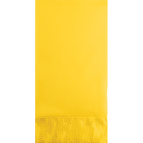 """Club Pack of 192 Pineapple Yellow 3-Ply Disposable Party Guest Napkins 8"""" - IMAGE 1"""