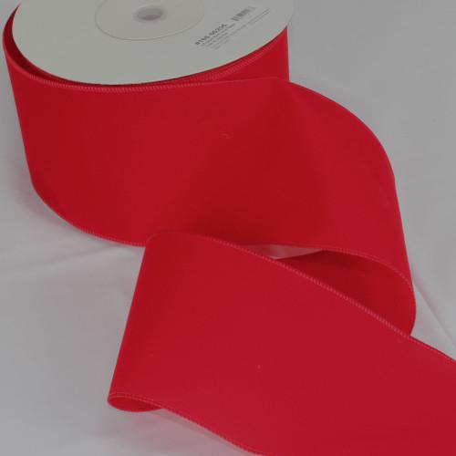 "Versatile Velvet Red Wired Craft Ribbon 5"" x 50 Yards - IMAGE 1"
