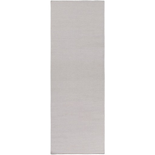 2.5' x 8' Ivory Contemporary Hand Woven Rectangular Area Throw Rug Runner - IMAGE 1