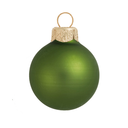 "Matte Lime Green Glass Ball Christmas Ornament 7"" (180mm) - IMAGE 1"